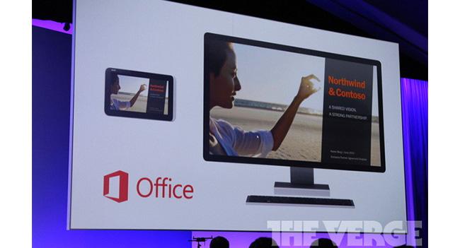 Microsoft показала приложение Office PowerPoint для интерфейса PowerPoint ОС Windows 8.1