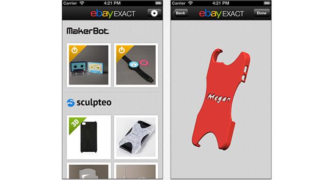 eBay предлагает возможность заказа индивидуальных предметов, изготовленных методом 3D-печати