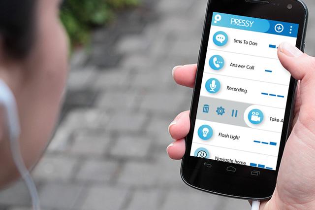 Pressy - кнопка для смартфона для вызова быстрых действий