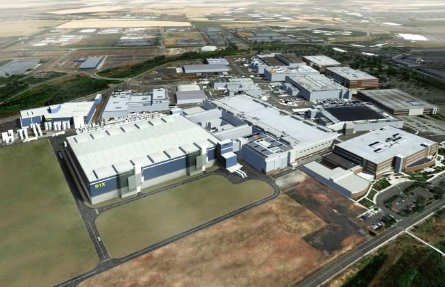 Новенький завод Intel D1X в Хиллсборо