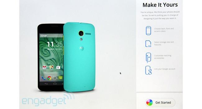 MotoMaker - сайт для заказа индивидуального смартфона Moto X