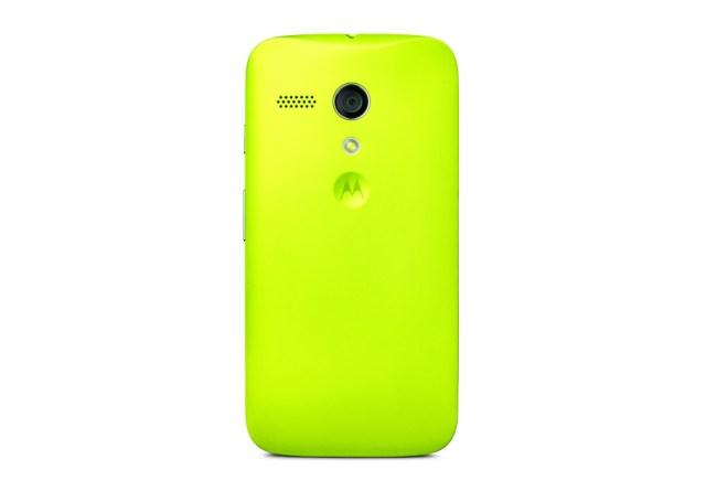 Moto G Lemon Lime Back