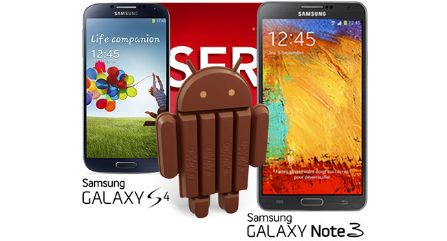 Смартфоны Samsung Galaxy S4 и Galaxy Note 3 получат обновление до Android 4.4 через месяц