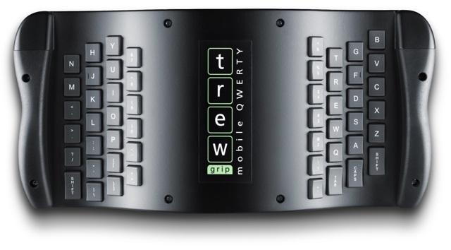 TrewGrip - внешняя клавиатура с обратным расположением клавиш для мобильных устройств