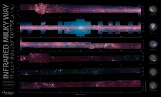 NASA опубликовало наиболее четкую панораму галактики Млечный Путь
