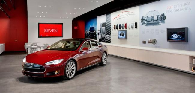 Автосалон Tesla Motors в Вене