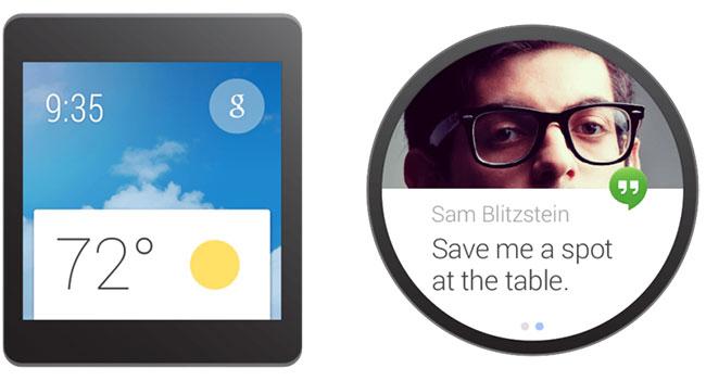 Google продемонстрировала дизайн уведомлений в Android Wear