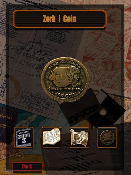 Монетка в один зоркмид в составе издания Zork I на платформе iOS – посмотреть можно, но пощупать уже нельзя