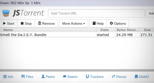 JSTorrent - BitTorrent-клиент для Chromebook