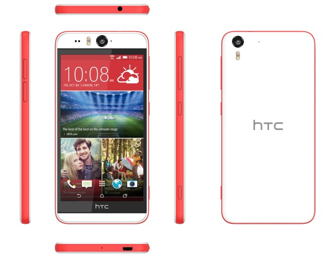 HTC Desire Eye Matt White explosion 300 dpi