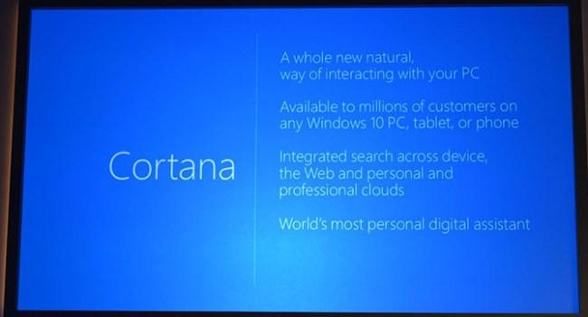 Microsoft представила виртуальный помощник Cortana для Windows 10