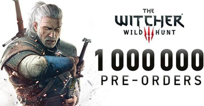 На игру The Witcher 3: Wild Hunt оформлено более 1 млн предварительных заказов