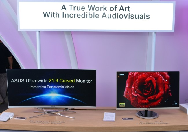 """ASUS LX34 curved monitor & 27"""" 4K Frameless monitor"""
