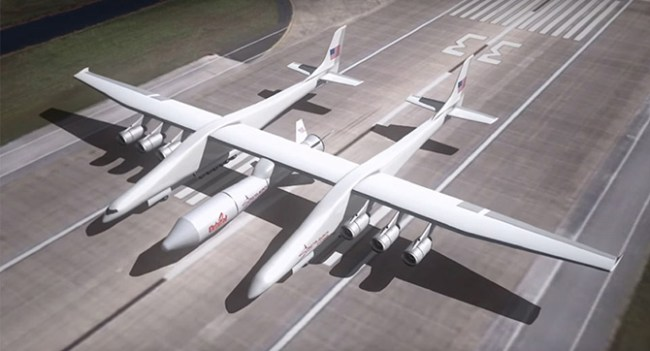 Самый крупный самолёт Stratolaunch отправится в тестовый полёт в 2016 году