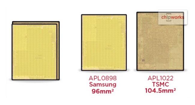 В iPhone 6s устанавливаются процессоры Apple A9 различных размеров