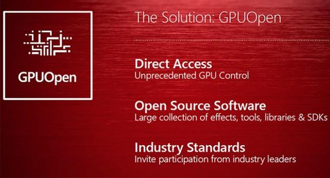 Инициатива AMD GPUOpen позволит разработчикам более полно задействовать ресурсы GPU