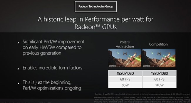 AMD показала GPU Polaris для энтузиастов