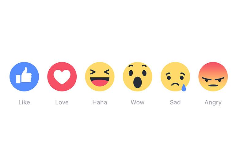 Facebook запустила дополнительные «Реакции» в качестве расширенной кнопки Like