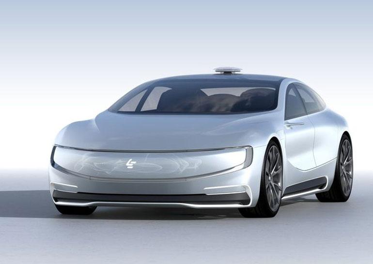 LeEco, финансирующая Faraday Future, анонсировала собственный самоуправляемый электромобиль LeSEE