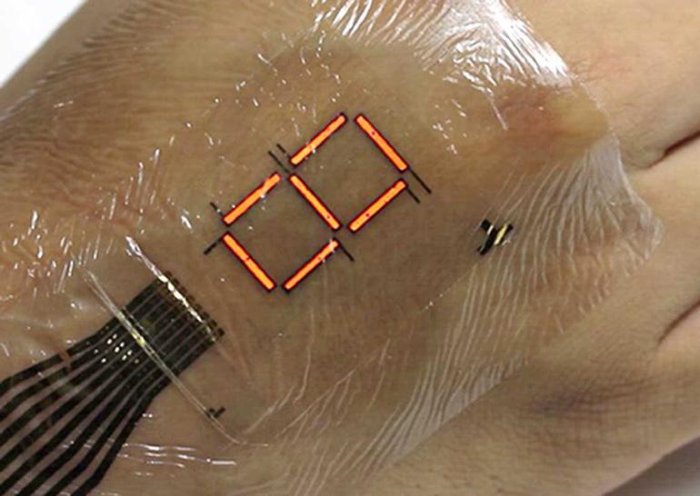 Сверхтонкие светодиоды позволят создавать носимые на коже электронные устройства