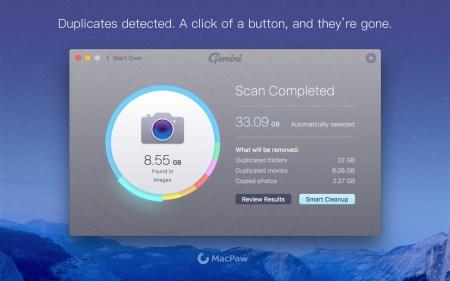 Украинская компания MacPaw выпустила умное приложение Gemini 2 для поиска дубликатов файлов на OS X и объявила о 50% скидке на все свои продукты
