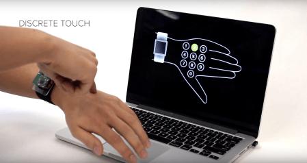 Исследователи Университета Карнеги-Мэллона предлагают использовать кожу на руке в качестве тачпада для работы с умными часами