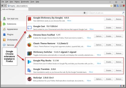 Как установить в Firefox расширения Chrome