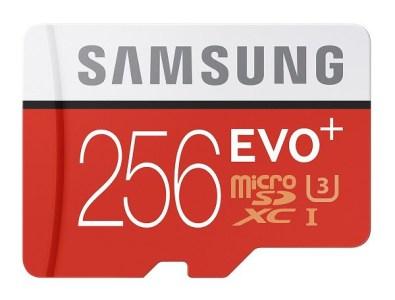Samsung анонсировала 256 ГБ microSD карту памяти
