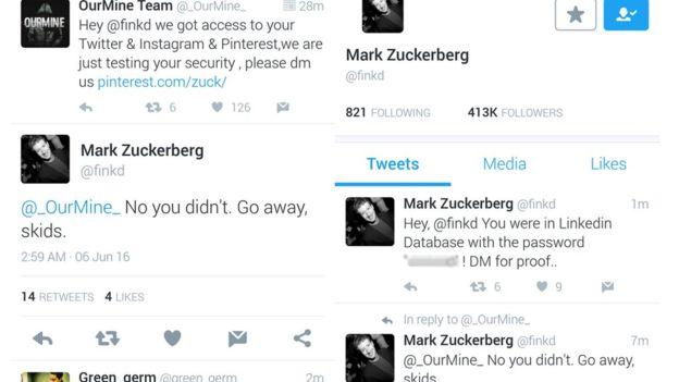 Хакеры взломали учётные записи Марка Цукерберка в социальных сетях