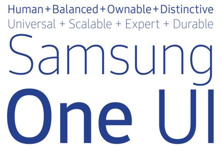 Samsung создала фирменный универсальный шрифт SamsungOne для всех своих продуктов