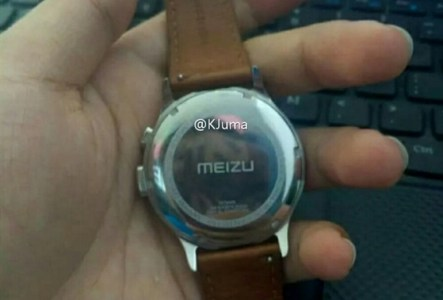 Появилось фото металлических умных часов Meizu с традиционным дизайном