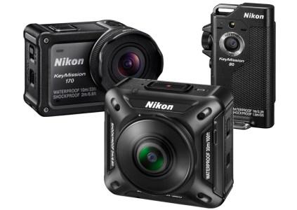 Представлены защищенные экшн-камеры Nikon KeyMission 170 и KeyMission 80. Модель KeyMission 360 с круговым обзором выйдет в октябре и будет стоить $499