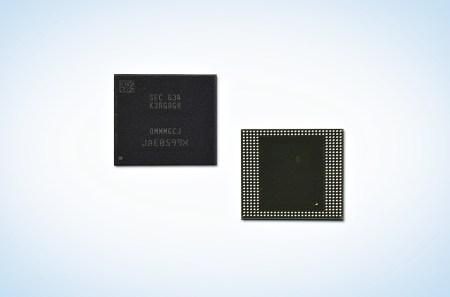 Samsung представила первые микросхемы памяти LPDDR4 DRAM объемом 8 ГБ, выпускаемые по технологии 10-нанометрового класса