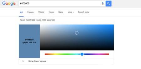 Поисковик Google научился конвертировать значения цветов