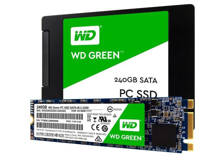 Western Digital анонсировала твердотельные накопители WD Blue и WD Green