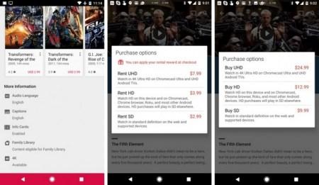 В Google Play Movies начали появляться фильмы в формате 4K