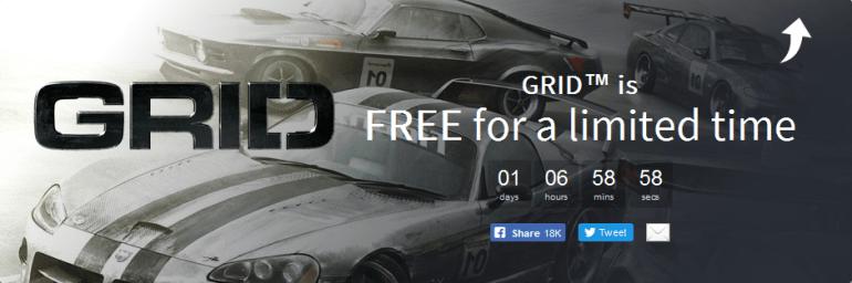 Сервис Humble Bundle раздает гоночный симулятор GRID