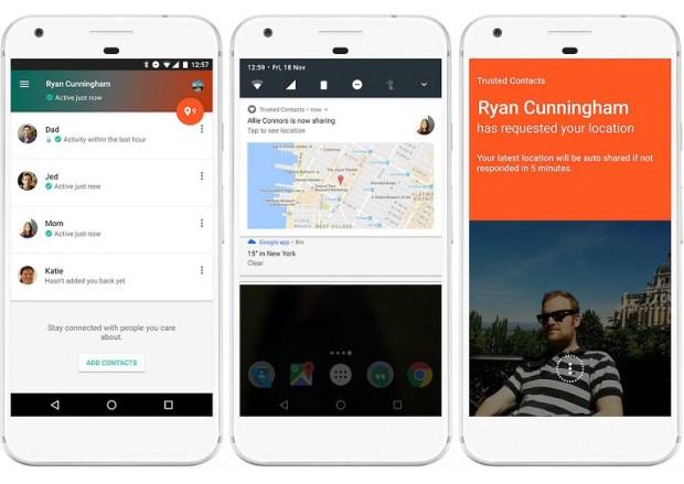 Приложение Google Trusted Contacts позволит делиться своим местоположением с близкими