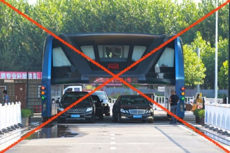 Китайский чудо-автобус TEB, способный «парить» над дорожными пробками, больше никому не нужен. Инвесторы вышли из проекта