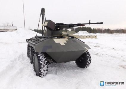 """""""Укроборонпром"""" показав на полігоні бойові можливості безпілотника """"Фантом"""" та роботизованих бойових модулів БМП-1УМД """"Мисливець"""""""