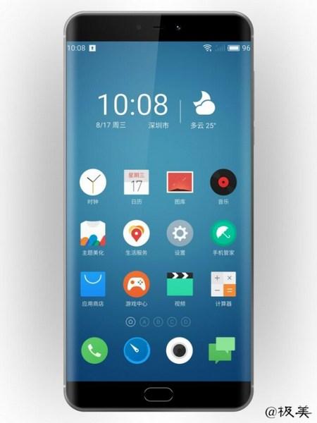 Утечка за утечкой: В сеть попала фотография смартфона Meizu Pro 7, демонстрирующая изогнутый с двух сторон дисплей