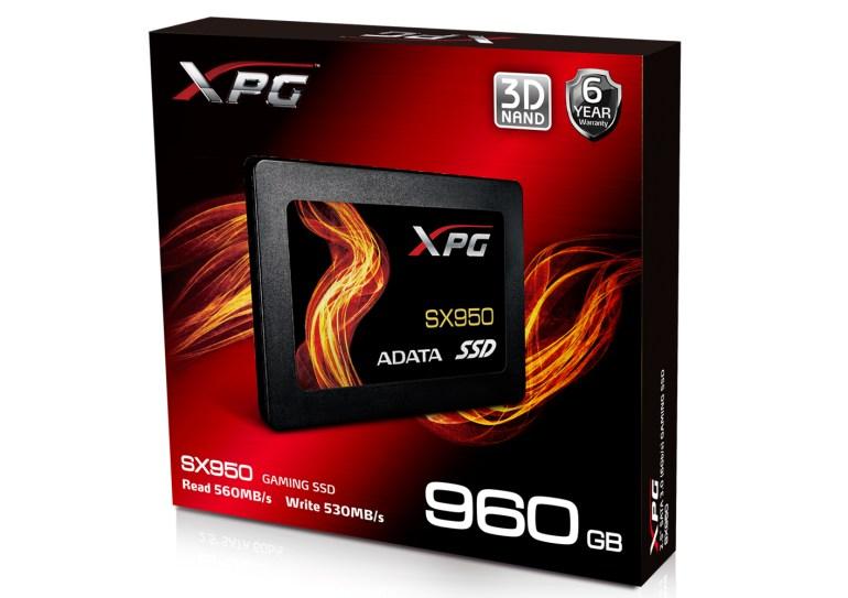 ADATA представила SSD-накопитель SX950 и внешний карман EX500, выполненный в стиле геймерской линейки XPG