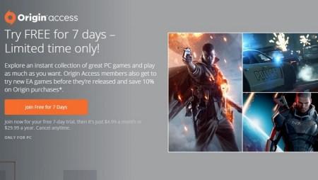 EA предлагает всем желающим неделю бесплатного доступа ко всем играм в Origin Access