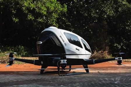 Уже этим летом в Дубае появятся беспилотные летающие такси EHang 184