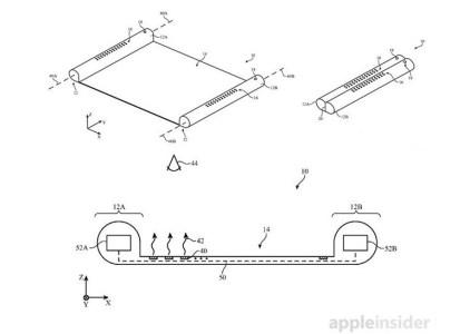 Apple запатентовала концепт «электронного свитка» с гибким OLED-экраном, наматывающимся на цилиндры-держатели