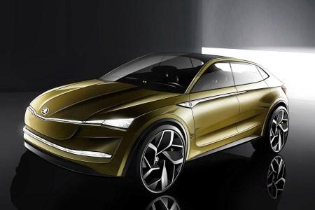 Первый электрический кроссовер бренда Skoda Vision E получит запас хода в 500 км и начнет серийно продаваться в 2020 году