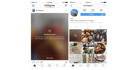 Instagram будет размывать «деликатные» фото и видео, прежде чем показывать их пользователю