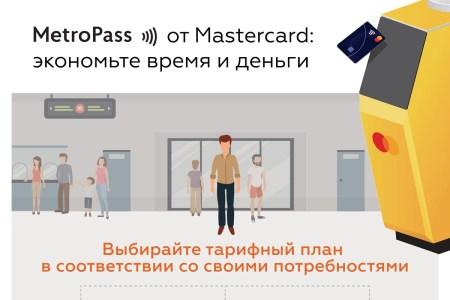 В киевском метро внедрили систему MetroPass, которая превращает любую бесконтактную карту Mastercard в проездной на месяц или количество поездок (со скидками до 13%)