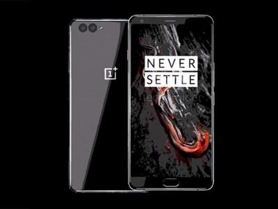Эскизы смартфона OnePlus 5 демонстрируют две сдвоенные камеры и керамическую вставку на задней панели