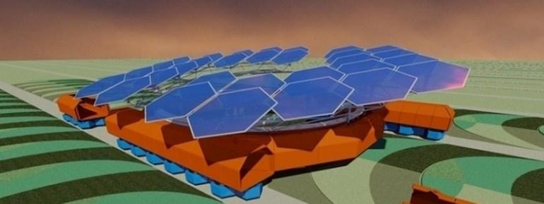 Украинские разработчики предложили идею робота-трактора на солнечных батареях, повышающего эффективность сельского хозяйства